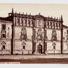 Fotografía antigua: ALCALÁ DE HENARES - 388. LA UNIVERSIDAD, CON NIÑOS EN FRENTE. FOTO: J. LAURENT. EXTRAORDINARIA.. Lote 192451571