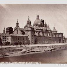 Fotografía antigua: ZARAGOZA - 157. IGLESIA DE N. SEÑORA DEL PILAR, FOTO: J. LAURENT. 24,1 X 33,2 CM.. Lote 192457656