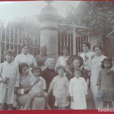 Fotografía antigua: FOTOGRAFIA ALBUMINA FOTO ALCOY EN EL OLIVAR 1914 ALICANTE ORIGINAL F8 26. Lote 192461186
