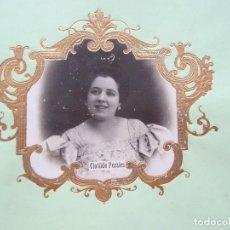 Fotografía antigua: CLOTILDE PERALES, ACTRIZ, ZARZUELA. Lote 192820998
