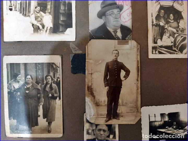 ÁLBUM DE FOTOS FAMILIAR DE LOS AÑO 30-40. ESPAÑOL. (Fotografía Antigua - Albúmina)