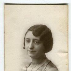 Fotografía antigua: TORTOSA FOTO DE SEÑORA STUDIO ESCUDE (POST CARD) (14 X 8,5 CMS APROX.) CARTON DURO VER REVERSO. Lote 194171912