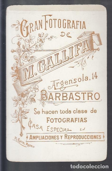 BARBASTRO.- GRAN FOTOGRAFÍA DE M. GALLIFA (Fotografía Antigua - Albúmina)
