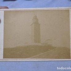 Fotografía antigua: * ANTIGUA FOTOGRAFIA DE FARO TORRE DE HERCULES DE FINALES SIGLO XIX, CORUÑA, ORIGINAL. ZX. Lote 194238033