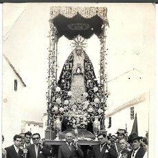 Fotografía antigua: FOTO PATRONA DE UN PUEBLO DE LA PROVINCIA DE MALAGA SIN DEFINIR - ALBUMINA-1008. Lote 194283533