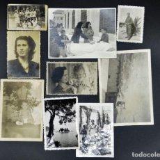 Fotografía antigua: LOTE DE 9 FOTOS ANTIGUAS, SURTIDAS (VER FOTOS ). Lote 194346125