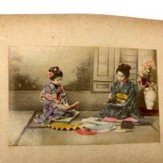 Fotografía antigua: ALBUM DE JAPON SIGLO XIX - 50 ALBUMINAS COLOREADAS GEISHAS PAISAJES. Lote 194367053