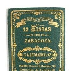 Fotografía antigua: J. LAURENT Y CIA. 12 VISTAS DE ZARAGOZA. RECUERDOS DE ESPAÑA. COMPLETO. ORIGINAL SIGLO XIX. ARAGÓN. Lote 194524787