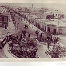 Fotografía antigua: SANTA CRUZ DE TENERIFE RAMBLA DE PULIDO-PLAZA DE LA PAZ-TRANVIA - JG GRANDE. Lote 194548535