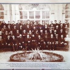 Fotografía antigua: ANTIGUA FOTOGRAFIA ALBUMINA. LOYOLA 1909. EJERCITANTES DE LA SEMANA SANTA.. Lote 194589816