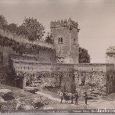 Fotografía antigua: GRAN FOTOGRAFÍA. Nº 140. ALREDEDORES DE LA ALHAMBRA. PUERTA DE HIERRO. GARZÓN, FOTÓGRAFO. GRANADA. Lote 194633106