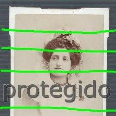 Fotografía antigua: RETRATO FEMENINO. TOTANA, MURCIA. FOTÓGRAFO J. RUBIRA. LORCA, MURCIA.. Lote 194633700
