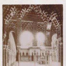 Fotografía antigua: FOTOGRAFÍA. Nº 14. GRANADA. ALHAMBRA. PATIO DE LOS LEONES. LINARES, Fº. 18 X 24 CM. Lote 194636711