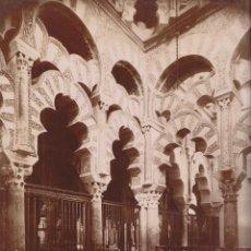 Fotografía antigua: FOTOGRAFÍA. CÓRDOBA. 46. LA CATEDRAL. INTERIOR DE LA CAPILLA DEL MIHRAB. 28,5 X 22 CM.. Lote 194637560