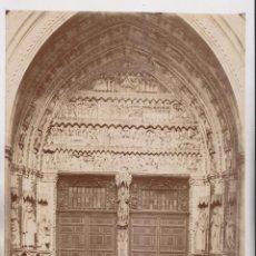 Fotografía antigua: FOTOGRAFÍA. CATEDRAL DE TOLEDO. 14. PUERTA DEL RELOJ. 26,5 X 20,5 CM.. Lote 194638641
