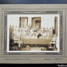 Fotografía antigua: ANTIGUA FOTOGRAFÍA REUNIÓN.. Lote 194677693