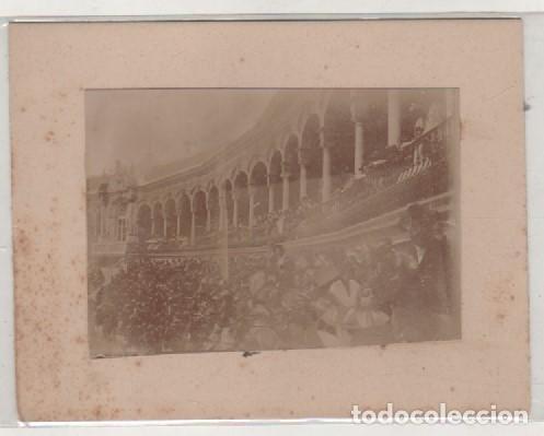 FOTOGRAFÍA DE SEVILLA 1897 PLAZA DE TOROS. NO FIGURA FOTÓGRAFO. 12 X 9 CM (Fotografía Antigua - Albúmina)