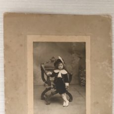 Fotografía antigua: PALERMO (SICILIA) NIÑOS FOTOGRAFÍA ANTIGUA PICCOLO CAVALIERE RETRATO: E. LOFORTE & C (FIN S.XIX). Lote 195105402