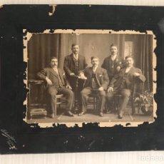 Fotografía antigua: CHICAGO (USA) FOTOGRAFÍA ANTIGUA. LOS PRIMEROS SICILIANOS...RETRATO: SCHNEIDER (H.1900?). Lote 195106448