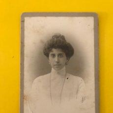 Fotografía antigua: PALERMO. FOTOGRAFÍA ANTIGUA ALBUMINA. SEÑORA CON MOÑO... RETRATO: E. INTERGUGLIELMI (H.1890?). Lote 195138147