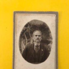 Fotografía antigua: GOLLUCCIO (NÁPOLES) ALBUMINA.. SEÑOR CON BIGOTES.. FOTOGRAFÍA SCOLASTICA (H.1900?). Lote 195140470