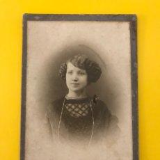 Fotografía antigua: NÁPOLES. FOTOGRAFÍA ANTIGUA ALBUMINA , SEÑORITA CON BELLO PEINADO RETRATO: ERNESTO CONTE (H.1900?). Lote 195140655