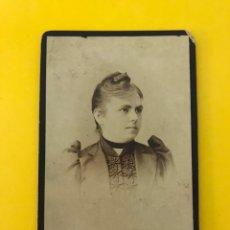 Fotografía antigua: VENEZIA. FOTOGRAFÍA ANTIGUA ALBUMINA. SEÑORA DE PERFIL.., RETRATO: FRATELLI VIANELLI (FIN SIGLO XIX). Lote 195140907