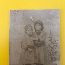 Fotografía antigua: S. MARGHERITA BELICE (SICILIA) FOTOGRAFÍA ANTIGUA. NIÑAS.., RETRATO. ENRICO LO BIANCO (H.1890?). Lote 195143643
