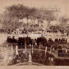 Fotografía antigua: TARRAGONA, 1890 APROX. CELEBRACIÓN RELIGIOSA, FOTO: P. PALLEJÁ. 22X27,5CM. SOPORTE: 31X37CM.. Lote 195159118