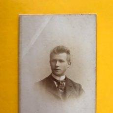 Fotografía antigua: WURZBURGO (ALEMANIA) FOTOGRAFÍA. JOVEN CON CORBATA. FOTÓGRAFO: SAMBON & CO (H.1890?). Lote 195164747