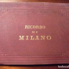 Fotografía antigua: RICORDO DI MILANO. 12 ALBUMINAS. Lote 195278140