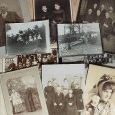 Fotografía antigua: FOTOGRAFÍAS ANTIGUAS (1890-1930) - 10 UNIDADES. Lote 195291273