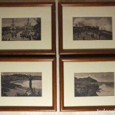 Fotografía antigua: FOTOGRAFÍAS ANTIGUAS EN MARCO - 4 UNIDADES. Lote 195291761