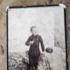 Fotografía antigua: FOTOGRAFIA DE ESTUDIO NAPOLEON HIJO NIÑO CON GORRA . Lote 195291930