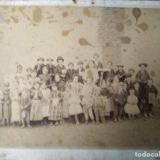 Fotografía antigua: RARA FOTOGRAFIA PATIO DE COLEGIO MADRID F. NAVARRO FINALES XIX . Lote 195297263