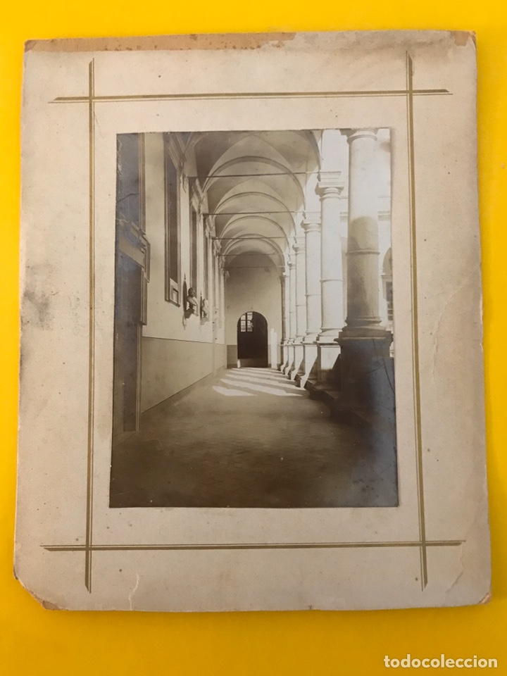 Fotografía antigua: FOTOGRAFÍA. Claustro Italiano. Barone di Buggilanni, Medidas: 23,5 x 19 cm., fin Siglo XIX) - Foto 2 - 195336933
