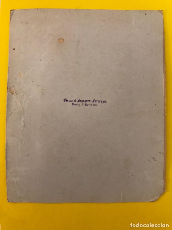 Fotografía antigua: FOTOGRAFÍA. Claustro Italiano. Barone di Buggilanni, Medidas: 23,5 x 19 cm., fin Siglo XIX) - Foto 3 - 195336933