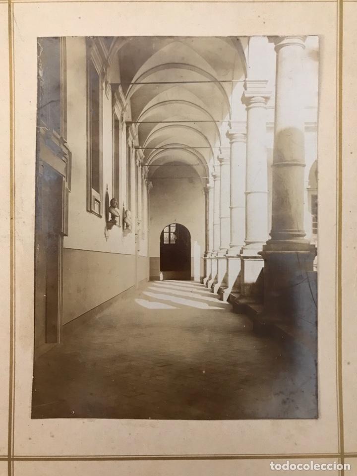 FOTOGRAFÍA. CLAUSTRO ITALIANO. BARONE DI BUGGILANNI, MEDIDAS: 23,5 X 19 CM., FIN SIGLO XIX) (Fotografía Antigua - Albúmina)