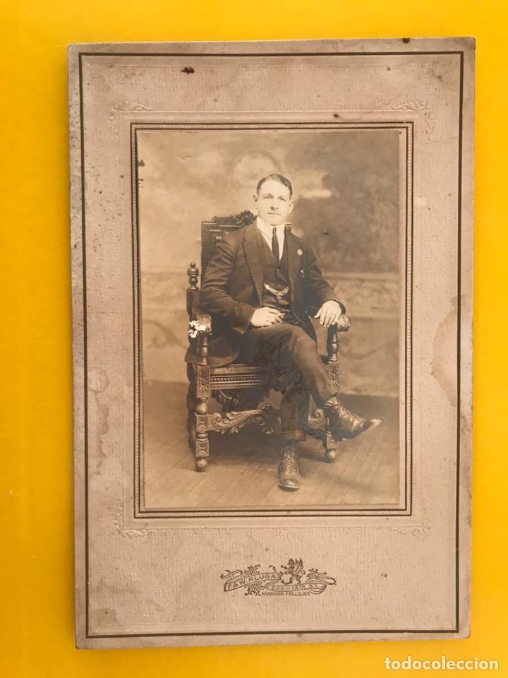 NIÁGARA FALLS, NY. FOTOGRAFÍA. PODEROSO CABALLERO SICILIANO. FOTÓGRAFO: F & W. KLUGA (H.1900?) (Fotografía Antigua - Albúmina)