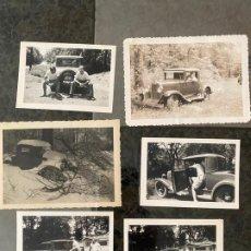 Fotografía antigua: LOTE DE 6 FOTOGRAFÍAS EN LAS QUE SE PUEDEN VER 3 AUTOMÓVILES DE ÉPOCA , POSIBLEMENTE DE CANADÁ. Lote 195360332