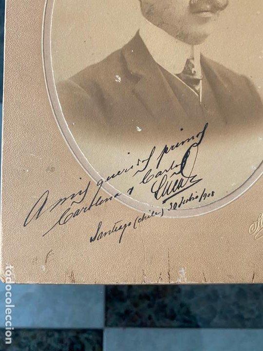 Fotografía antigua: fotografia a personaje en santiago de chile en 1908 por stephan , antofagasta - Foto 2 - 195361061