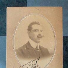 Fotografía antigua: FOTOGRAFIA A PERSONAJE EN SANTIAGO DE CHILE EN 1908 POR STEPHAN , ANTOFAGASTA. Lote 195361061