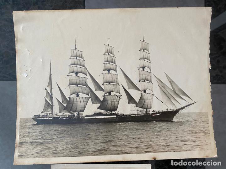 Fotografía antigua: lote de 2 fotografias de barcos , una de ellas de 1914 , a documentar - Foto 2 - 195361192