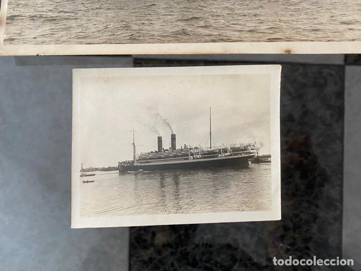 Fotografía antigua: lote de 2 fotografias de barcos , una de ellas de 1914 , a documentar - Foto 3 - 195361192
