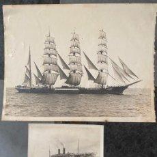 Fotografía antigua: LOTE DE 2 FOTOGRAFIAS DE BARCOS , UNA DE ELLAS DE 1914 , A DOCUMENTAR . Lote 195361192