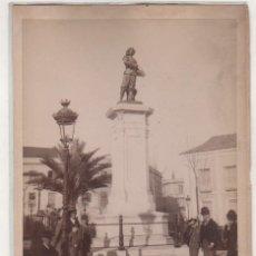 Fotografía antigua: Nº 147 SEVILLA ESTATUA DE VELAZQUEZ. ALMELA. 14,50 X 11 CM. Lote 195413441