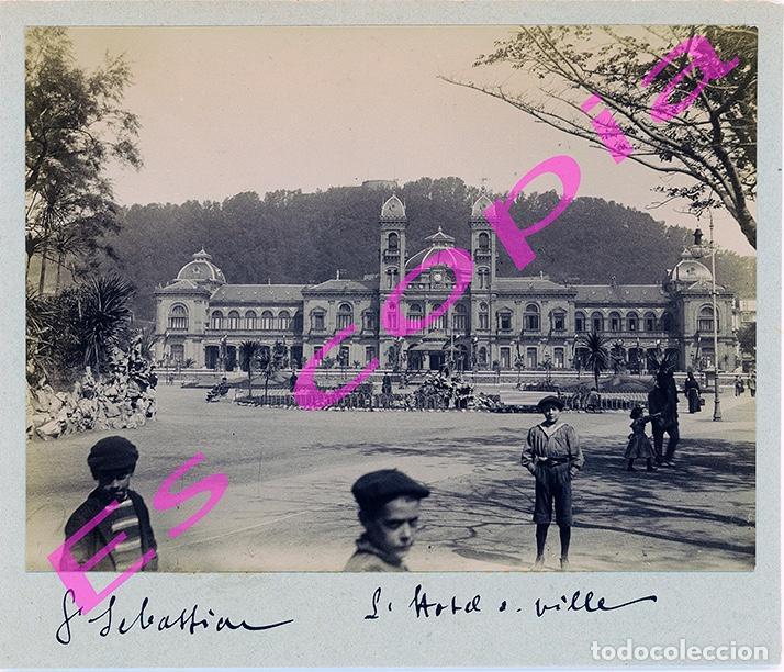 ALBÚMINA SAN SEBASTIAN / DONOSTIA (Fotografía Antigua - Albúmina)