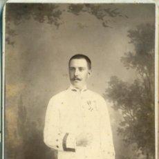 Fotografía antigua: MILITAR FILIPINAS MANILA. CAPITÁN MÉDICO. ESCRITA EN 1896. GRAN TAMAÑO. MUY RARA.. Lote 195501235