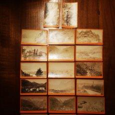Fotografía antigua: SUIZA. LOTE DE 21 FOTOGRAFÍAS ALBUMINAS TAMAÑO CDV. Lote 195510062