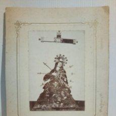 Fotografía antigua: FOTOGRAFÍA MATER DOLOROSA VDA DE OLIVAN Y HNOS. Lote 195528886